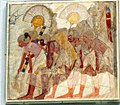 Facsimile of a painting from the tomb of Userhat- enseign bearers and soldiers MET chr30.4.38.jpg
