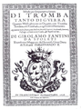 Fantini - Modo per imparare a sonare di Tromba (1638) frontispice.png