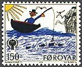 Faroe stamp 040 childrens year (man in boat).jpg