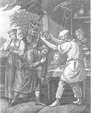 Father, bless his son in the militia (Ukhtomsky).jpg