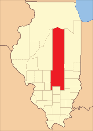 Fayette County, Illinois - Image: Fayette County Illinois 1823