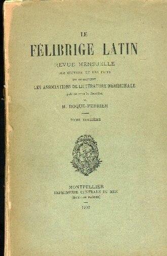 Occitan literature - Félibrige Latin