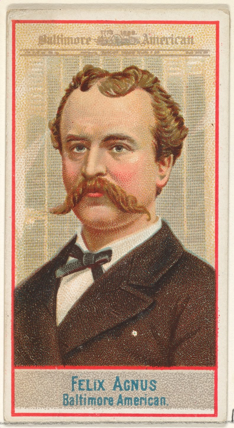 Felix Agnus, Baltimore American, from the American Editors series (N1) for Allen & Ginter Cigarettes Brands MET DP827823