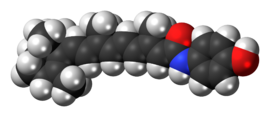 Space-filling model of the Fenretinide molecule