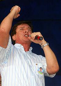 Collor durante campanha ao Senado de 2006.