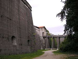 Rothenberg Fortress - Moat, bridge and gate