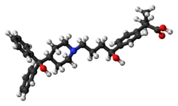 Ball-and-stick model of fexofenadine