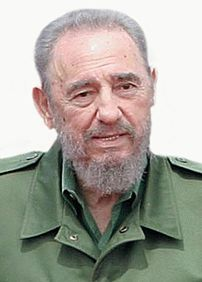 The Cuban leader Fidel Castro.