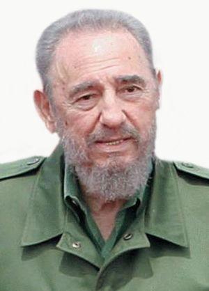The Cuban leader Fidel Castro.