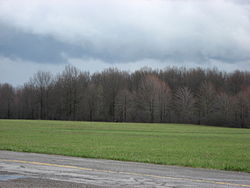 Fields and a hill at the McGuffey Boyhood Homesite.jpg