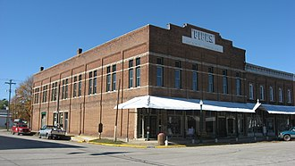 National Register of Historic Places listings in Crawford County, Illinois - Image: Fife Opera House in Palestine