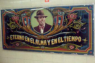 Carlos Gardel (Buenos Aires Underground) - Image: Fileteado Gardel Abasto Untroib