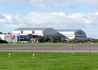 Filton - Aircraft hangars on Filton Airfield. The Bristol Brabazon, Bristol Britannia and Concorde aircraft were constructed here.
