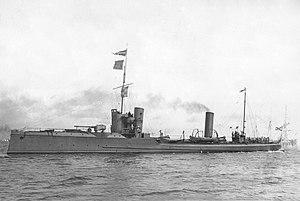 Sandvikens Skeppsdocka och Mekaniska Verkstad - Imperial Russian Torpedo Cruiser Finn built in 1906.