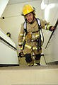 Firefighters with Commander, Navy Region Japan climb the stairs of a tower at Naval Air Facility Atsugi, Japan, Sept 120911-N-VE260-044.jpg