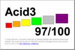 Ergebnis des Acid 3-Tests für Firefox 4 in seiner Alpha- und Betaphase: 97 Punkte von 100