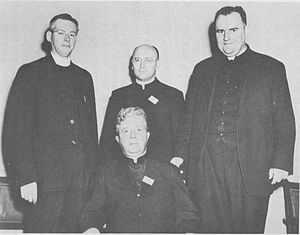 Joseph Clifford Fenton - First officers of the Catholic Theological Society of America (CTSA), left to right: Fr. James E. Rea, Fr. Gerard Yelle, Fr. Joseph Clifford Fenton, Fr. Francis J. Connell (seated)