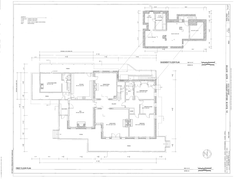 File:First Floor Plan and Basement Plan - J A Ranch ...