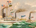 First International Yacht Race off Children's Island (Marblehead, Massachusetts), by M. H. Howes LHS detail.jpg