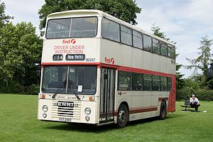 First Leicester - Preserved East Lancs bodied Dennis Dominator