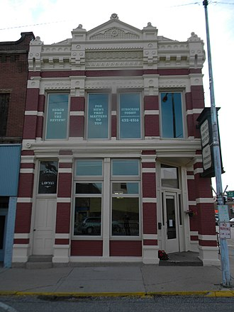 National Register of Historic Places listings in Grant County, South Dakota - Image: First National Bank Of Milbank NRHP 78002554 Grant County, SD