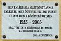 First secondary school plaque Sarkad Vasút u 2.jpg