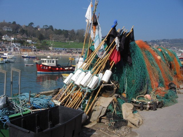 Fishing equipment on Lyme Regis Cobb - geograph.org.uk - 371792