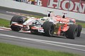 Fisi leads Sutil round turn 2 Canada 2008.jpg