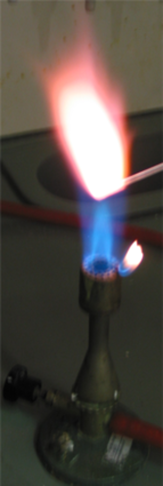 Potassium - The flame test of potassium.