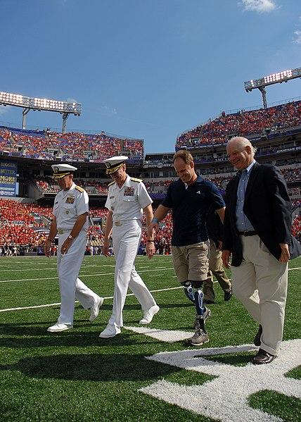 File:Flickr - Official U.S. Navy Imagery - Sen. Benjamin Cardin walks with sailors during Naval Academy football game..jpg
