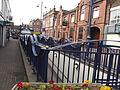 Flower beds in Spring - St John's Road, Stourbridge - Foster Road station entrance.jpg