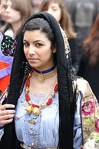 Folk Costume of Sardinia in Oliena 5.jpg