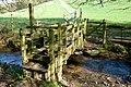 Footbridge and Ford, Higher dean - geograph.org.uk - 807297.jpg