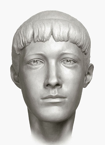 A forensic facial reconstruction of Grand Duchess Anastasia by S. A. Nikitin, 1994 Forensic rec. Romanov 05.jpg