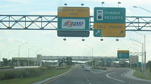 Florida State Road 429 - Southbound at the Forest Lake Mainline Toll Plaza