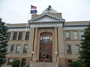 Foster County Courthouse in Carrington, North Dakota.