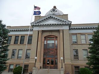 Foster County, North Dakota - Image: Foster County Courthouse Carrington ND