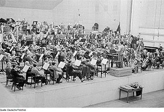 Sergiu Celibidache - Celibidache as conductor of the Berlin Philharmonic in 1946