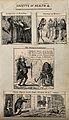 Four medical conditions humourously illustrated. Reproductio Wellcome V0010984ER.jpg