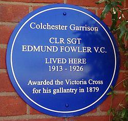 Photo of Edmund Fowler blue plaque