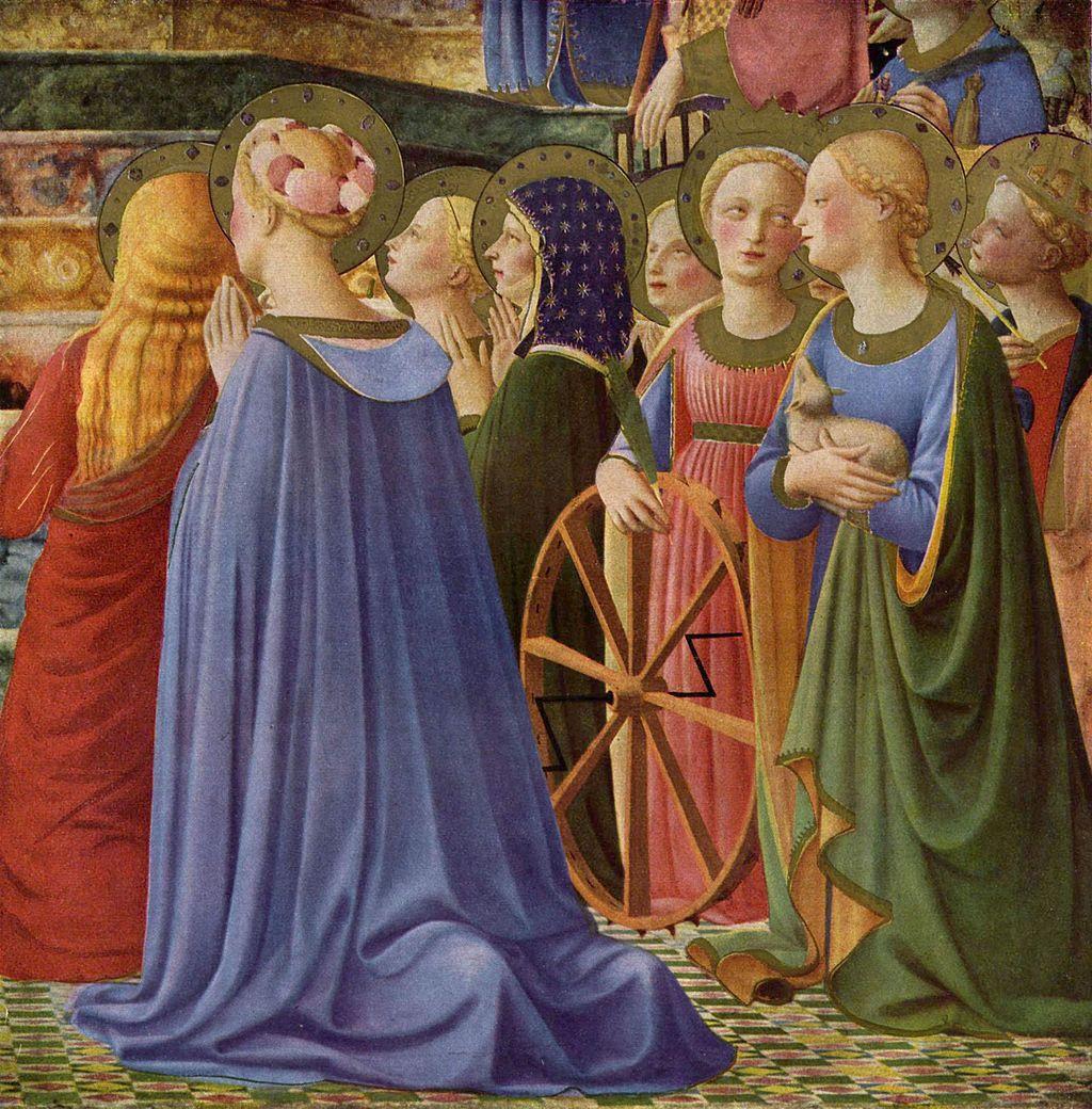 Fra Angelico, Incoronazione della Vergine, (particolare), 1434-1435, tempera su tavola, 213 x 211 cm, Musée du Louvre, Parigi