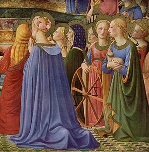 Coronation of the Virgin (Fra Angelico, Louvre) - Detail.