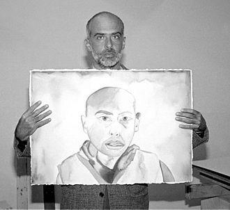 Francesco Clemente -  With self-portrait, San Francisco, 1991