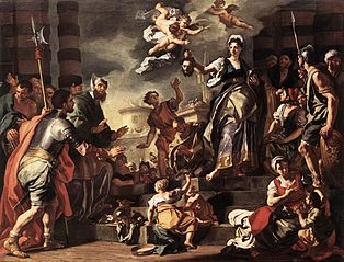 Judith shows the people the head of Holofernes