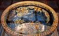 Francesco durantino, bacile per vino, con distruzione della flotta di enea, 1553, 03.jpg