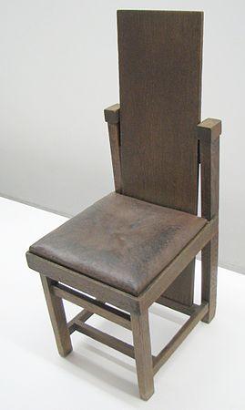 Chaise Créée Par Frank Lloyd Wright En 1903.
