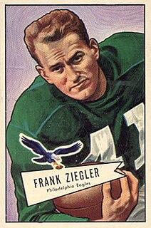 Frank Ziegler American football runningback