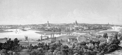 Franz Xaver Sandmann - Potsdam vom Brauhausberg aus geseh'n