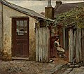 Frederick McCubbin - Girl with a bird at the King Street bakery - 1886.jpg