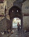 Frederik Collett - Citygate in Moret-sur-Loing - NG.M.02416 - National Museum of Art, Architecture and Design.jpg